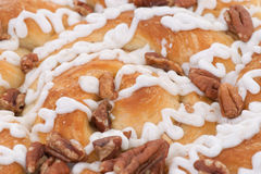 Pecan danish cake closeup Stock Images