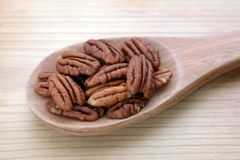 Pecan halves Royalty Free Stock Images