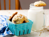 Pecan i czekolady ciastka Stylowy wieśniak Fotografia Royalty Free
