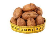 Pecan and meter Royalty Free Stock Images