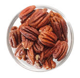 Pecan nut bowl Royalty Free Stock Images