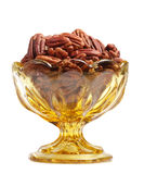 Pecan nut bowl Royalty Free Stock Photo