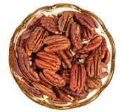 Pecan nut bowl Royalty Free Stock Photography
