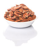 Pecan Nut In A Bowl IV Royalty Free Stock Image