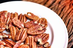 Pecan nut Stock Photo