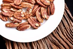 Pecan nut Royalty Free Stock Photos