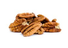 Free Pecan Nut Kernels Isolated On White Background Royalty Free Stock Photos - 134466888