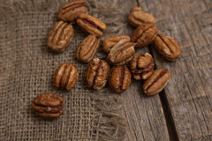 Pecan nut Stock Image