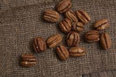 Pecan nut Stock Photo