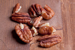 Pecan nuts Royalty Free Stock Images