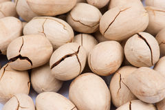 Pecan nuts background Stock Photos