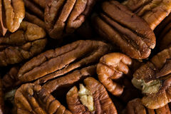 Pecan nuts background. Pecan nuts closeup, food background stock image