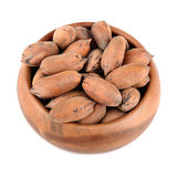 Pecan nuts in bowl Royalty Free Stock Photos