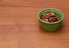 Pecan nuts in bowl Royalty Free Stock Photo