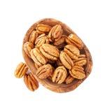 Pecan nuts in bowl Stock Photos