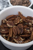 Pecan nuts royalty free stock photos