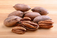 Pecan nuts closeup Royalty Free Stock Images