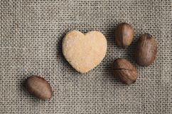 Pecan nuts and cookies . royalty free stock image