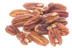 Pecan Nuts Isolated Stock Photos