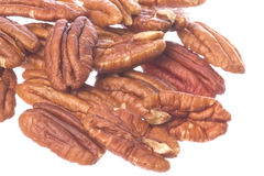 Pecan Nuts Isolated Royalty Free Stock Photos