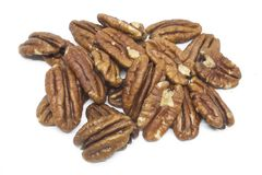 Pecan nuts isolated on white Stock Photography