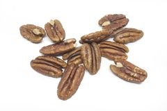 Pecan nuts isolated on white Stock Photo