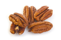Pecan Nuts Pile Stock Photos