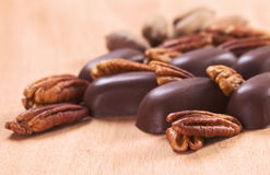 Pecan Nuts with Truffles Stock Photos