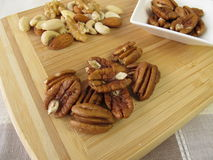 Pecan and other nuts Royalty Free Stock Photography