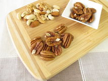 Pecan and other nuts Stock Photo