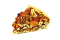 Pecan Pie With Assorted Nuts and Caramel Royalty Free Stock Photo