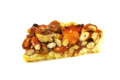 Pecan Pie With Assorted Nuts and Caramel Royalty Free Stock Photos