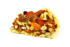 Pecan Pie With Assorted Nuts and Caramel stock images