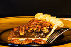 Pecan Pie Closeup Stock Photos