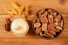 Pecan pie cupcake Royalty Free Stock Photography