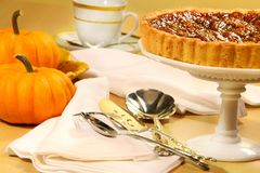 Pecan pie dessert Royalty Free Stock Image