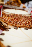 Pecan pie at market Stock Photo