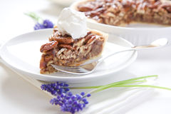Pecan Pie Slice Stock Photos