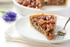Pecan Pie Slice Royalty Free Stock Photography