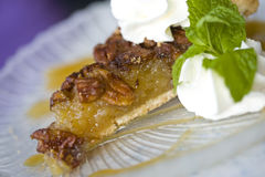 Pecan Pie Slice Royalty Free Stock Photos