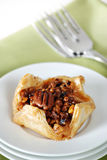 Pecan Puff Pastry on White Plates Royalty Free Stock Images