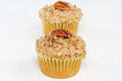 Pecan Streusel Muffin Royalty Free Stock Photography