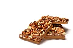 Pecan toffee Stock Images