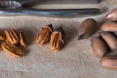 Pecannöt som är klar att ätas Royaltyfri Fotografi