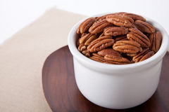 Pecans in a bowl Royalty Free Stock Photography