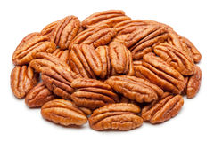Pecans isolated on white. Stock Image
