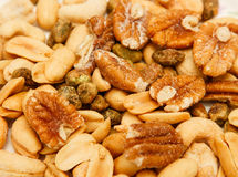 Pecans Peanuts Pistachios and Cashews Stock Image