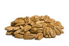 Pecans on White Royalty Free Stock Images