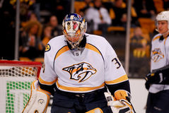 Pecca Rinne, Nashville Predators. Nashville Predators goalie Pecca Rinne Royalty Free Stock Photo