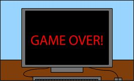 PECET ekranizuje który czyta grę! Zdjęcie Royalty Free